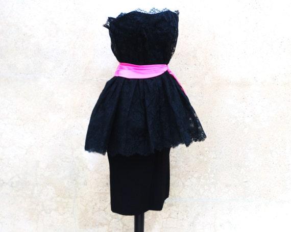 1960s collectible Ceil Chapman black lace cocktai… - image 5
