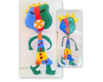 Monster Toy, Doll from Drawing