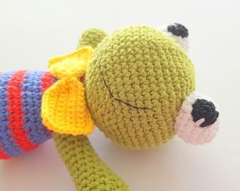 Frog, crochet frog, frog amigurumi, frog toy, green frog, amigurumi dolls, amigurumi animals, gift for kids, soft toy, crochet baby frog