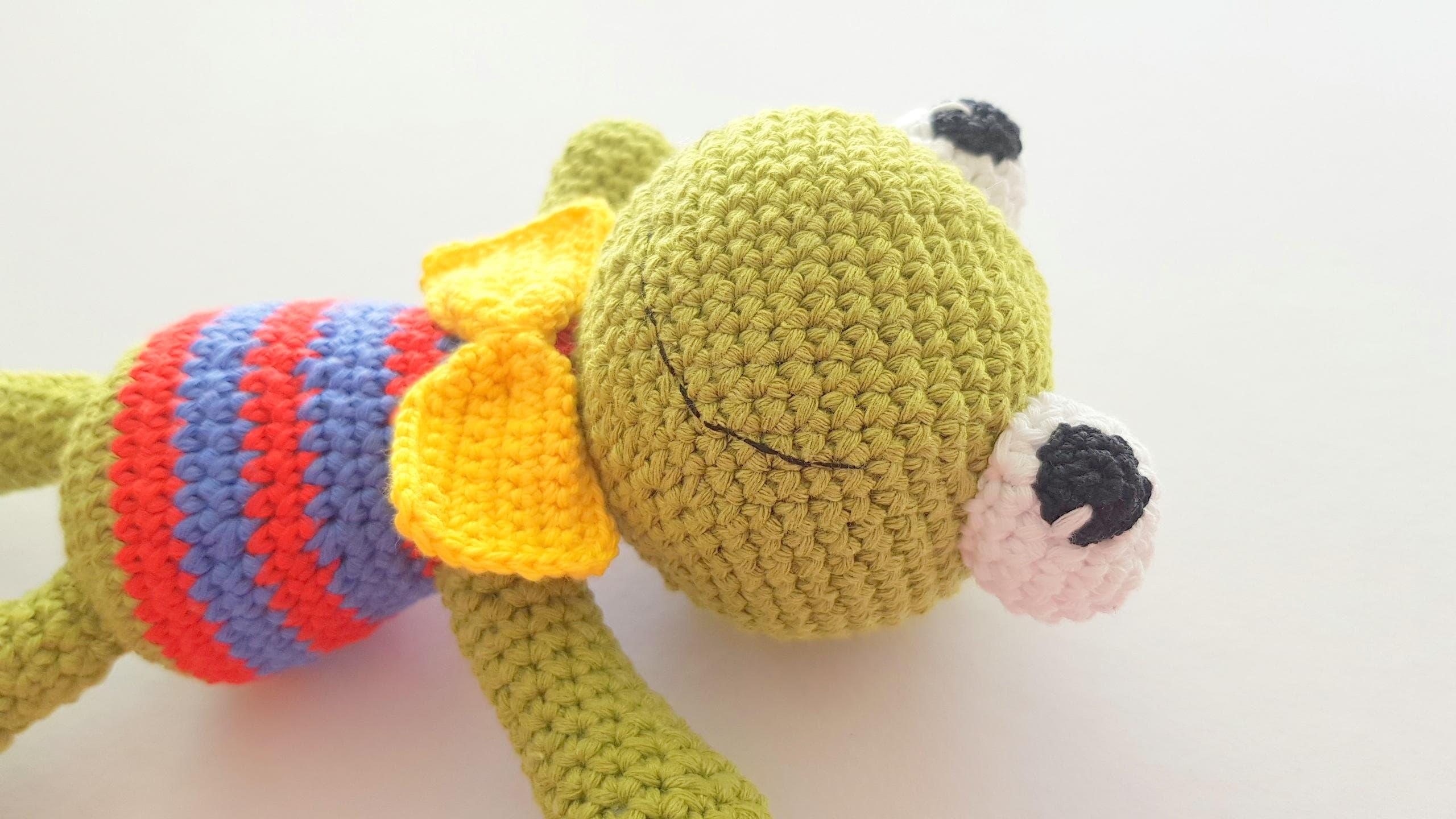 Frosch häkeln Frosch Frosch Amigurumi Frosch-Spielzeug