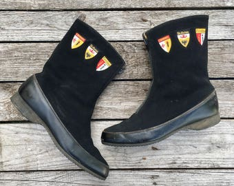 7 | Women's 1960's Vintage Fleece Lined Winter Boots Sno-ettes by Holidays