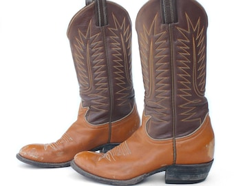 sz 6 | Tony Lama Country Western Boots in Two Toned Leather