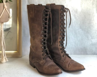 7.5 M | Women's Tall Lace Up Western Style Boots by Seychelles