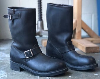 9.5 M | Women's HH Black Engineer Motorcycle Boots