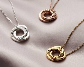 Personalised Mini Russian Ring Necklace