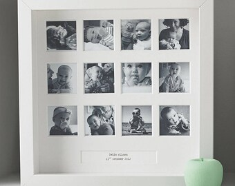 """Personalised """"My First Year"""" Square Photo Frame"""