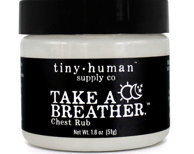 Take a Breather Chest Rub: Eucalyptus, Peppermint, Rosemary & Lavender Scent