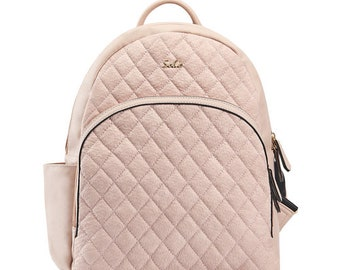 Pink Boise Backpack Diaper Bag and Changing Pad