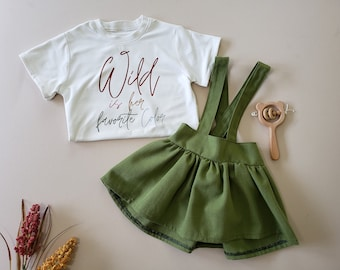 Wild Is Her Favorite Color, Baby Girl, Toddler, Boho T-Shirt, Graphic Tee, Rainbow Baby, Summer Outfit, Gifts For Kids, Sublimation