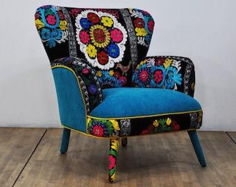 Suzani Armchair - turquoise love