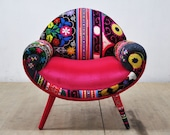 RESERVED: Smiley Armchair - pink love