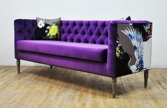 Strange Loveseat Purple 3 Seater Sofa Lamtechconsult Wood Chair Design Ideas Lamtechconsultcom