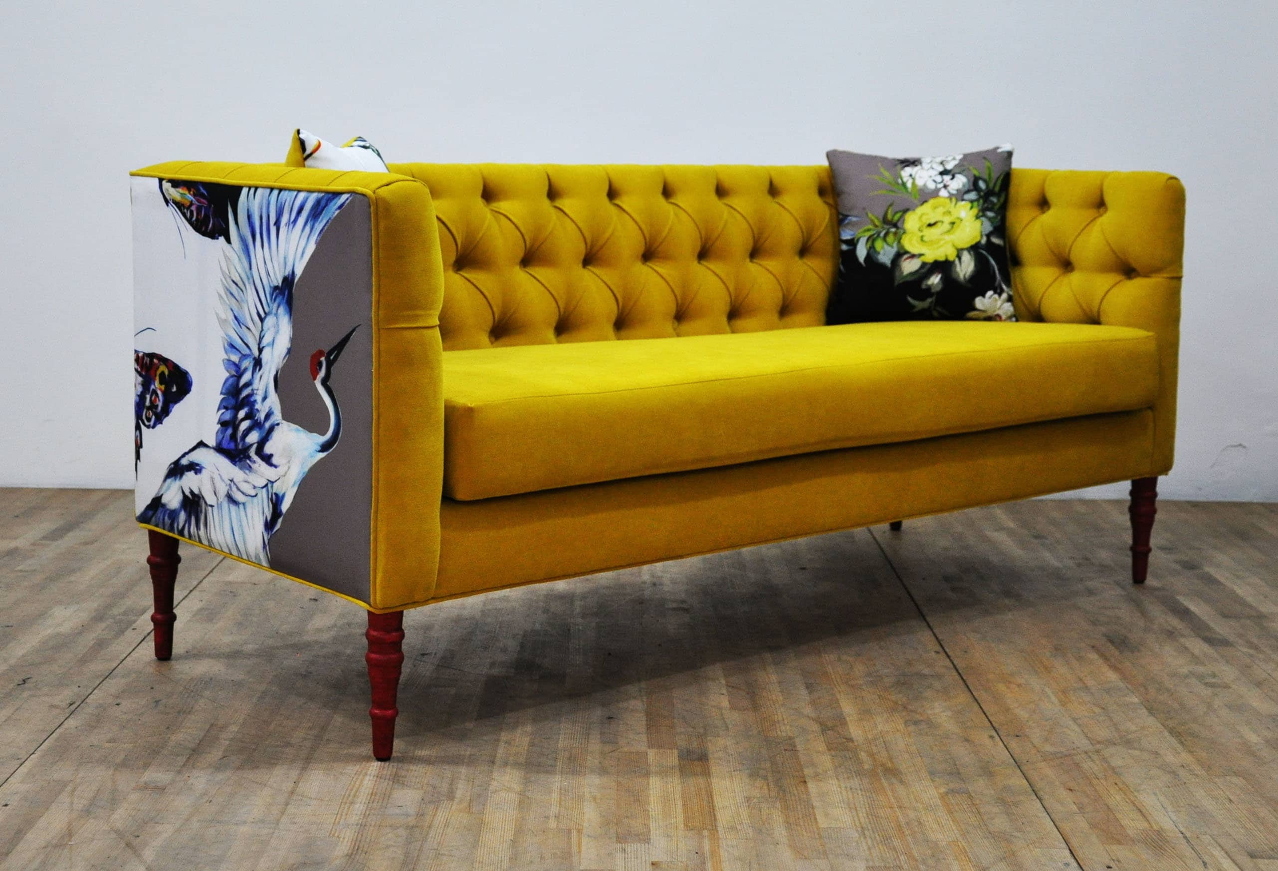 "Loveseat - yellow love ""3 seater sofa"" for sale"