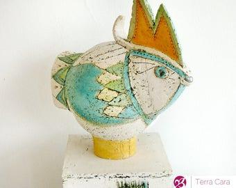 ceramic fountain - animal sculpture
