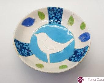 ceramic plate with bird