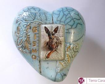 Ceramic Raku Pet Urn - made to order