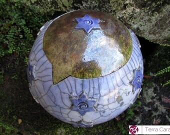 Ceramic Raku Pet Urn