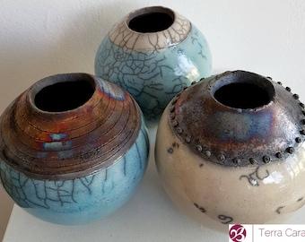 Ceramic Raku Vase