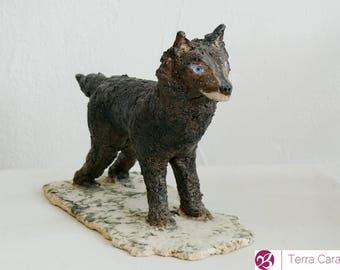 Ceramic Sculpture - Wolf