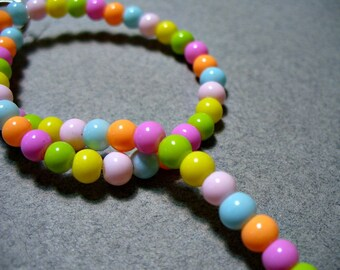 Glass Beads Mixed Colors Round 4MM