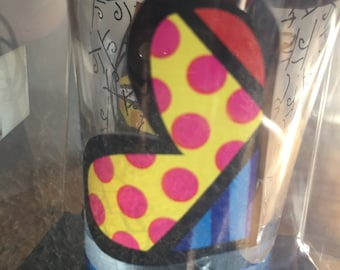 Britto Art Glass Shot Glass by Romero Britto