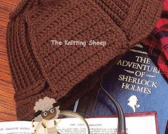 PDF Crochet Pattern for Retro Sherlock Holmes Deerstalker Hat - Instant  Download 16931bcaa74a