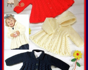 68d082ac4 PDF Knitting Pattern for an Outdoor Set Aran Style