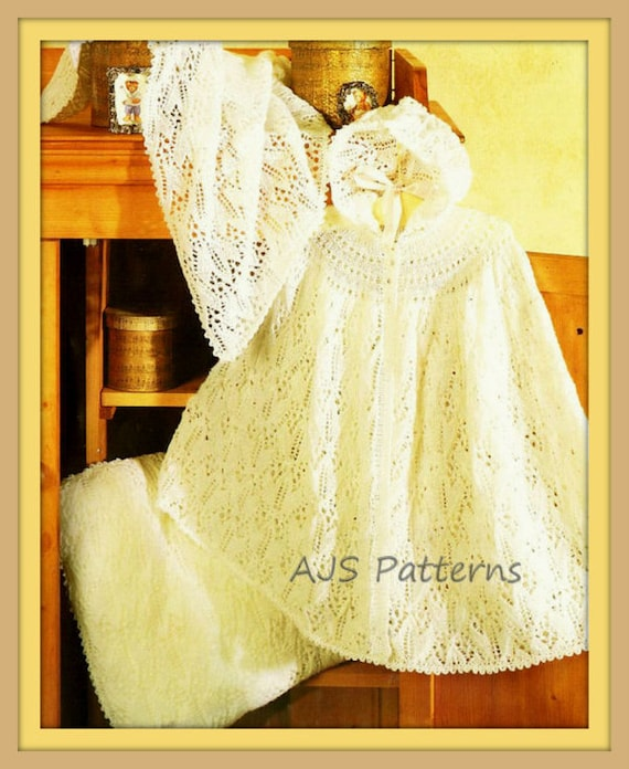 Pdf Knitting Pattern For A Baby Cape Cot Blanket Cushion Etsy