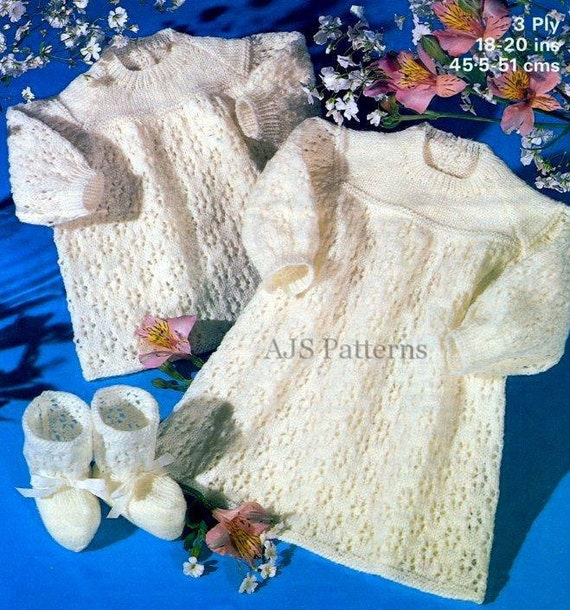 PDF Knitting Pattern for a Sweet Babies Lacey DressAngel Top | Etsy
