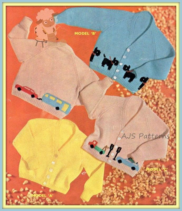 PDF Knitting Pattern for Childrens Scottie/Westie Dog & | Etsy