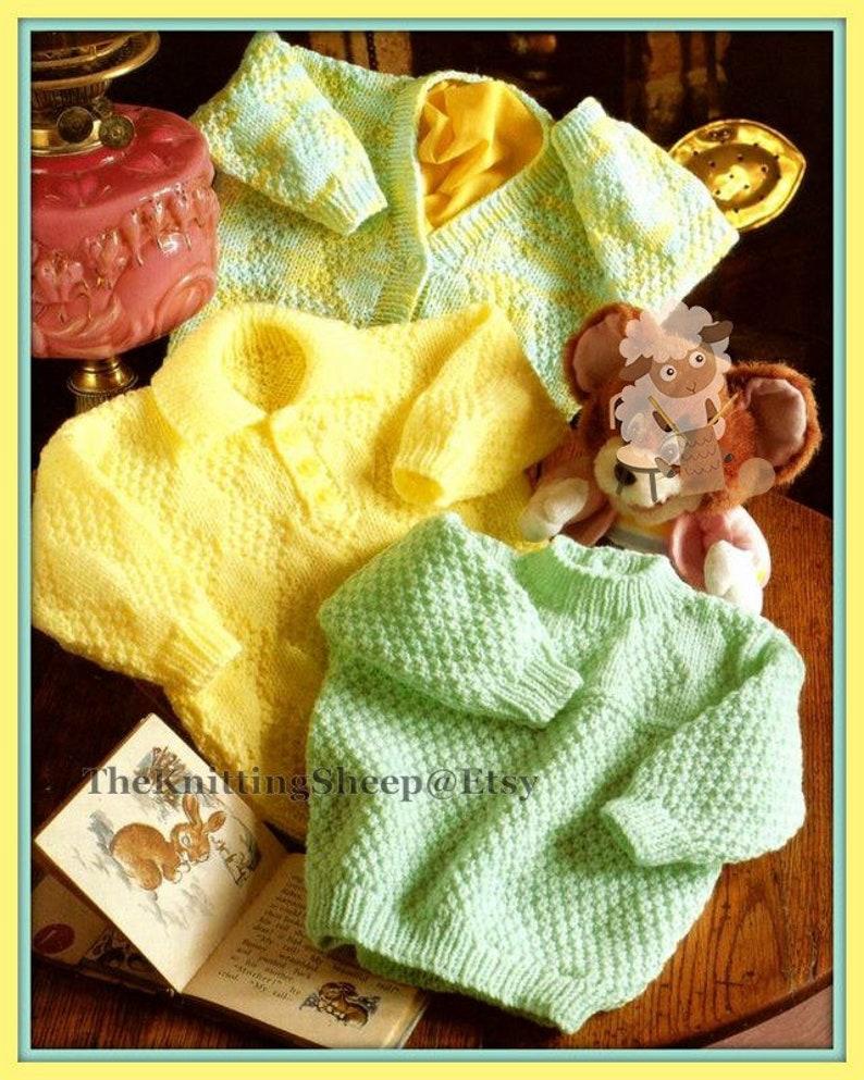 533e30ff406d PDF Knitting Pattern 2 Styles of Aran Cardigans   Sweater to