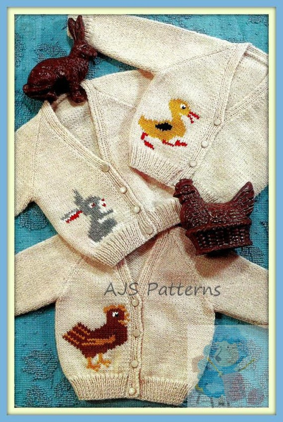 Pdf Vintage Knitting Pattern For Baby And Toddlers 3 Motif