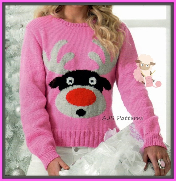 c734ee3e4 PDF Knitting pattern for Rudolf The Red Nose Reindeer