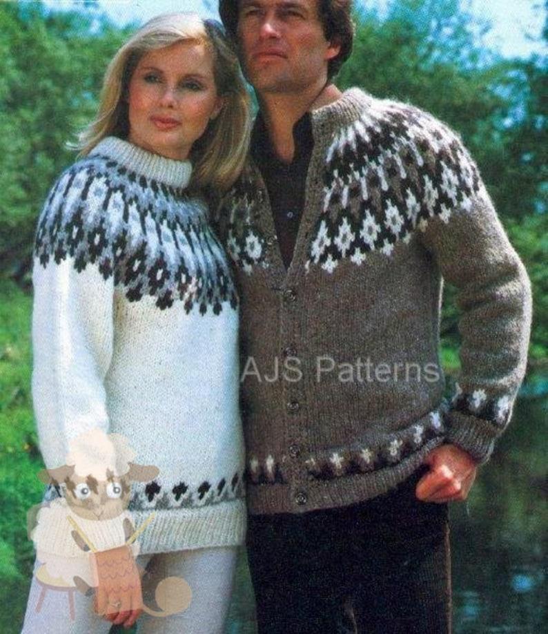 9871349c200a PDF Knitting Pattern Unisex Fair Isle Fair Isle Sweater