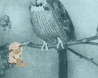 PDF Knitting Pattern for Vintage Budgie/Buderigar Knitted Toy -  Instant Download