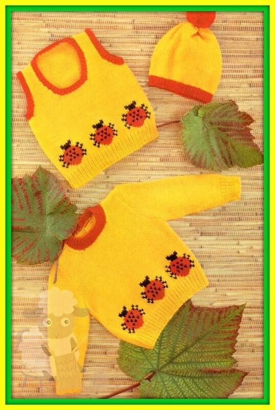 be016d70d03a PDF Knitting Pattern for a Babies Sweet Little Ladybird