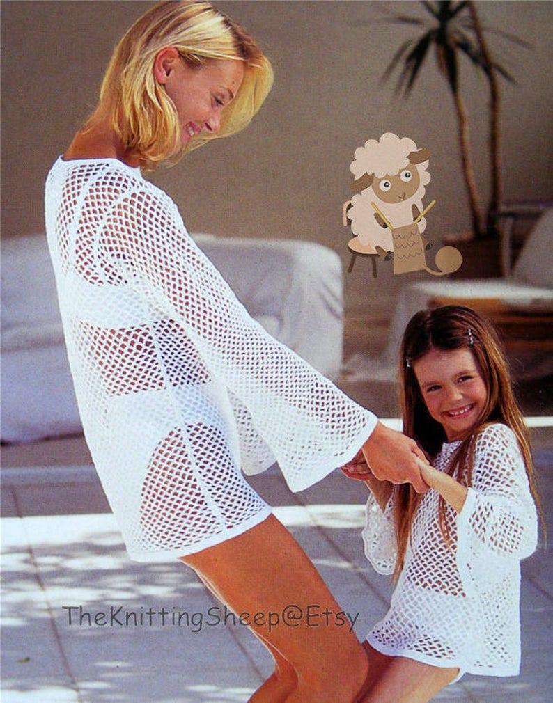 83896e7ca0 PDF Crochet Pattern Beach Wear Crochet Bikini & Cover Up | Etsy