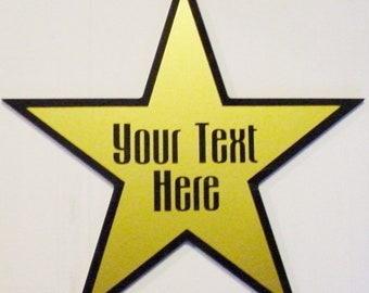 Star Dressing Room Door Home Movie Theater Sign 11 Silver Or Gold Vinyl On Black Mirror Acrylic Send Your Text