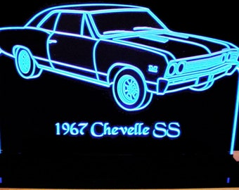 "1970 Torino Edge Lit Lighted Led Sign 11-13/"" Plaque 70 VVD3 Made in USA"
