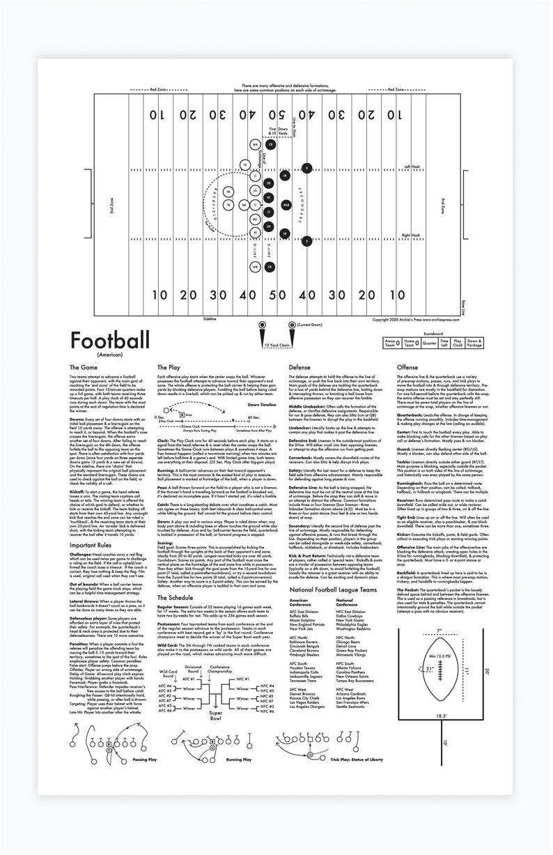 Football Letterpress Print 11x17