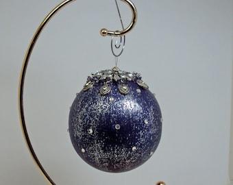 Jeweled  Ornament Deep Purple #524Handmade OOAK