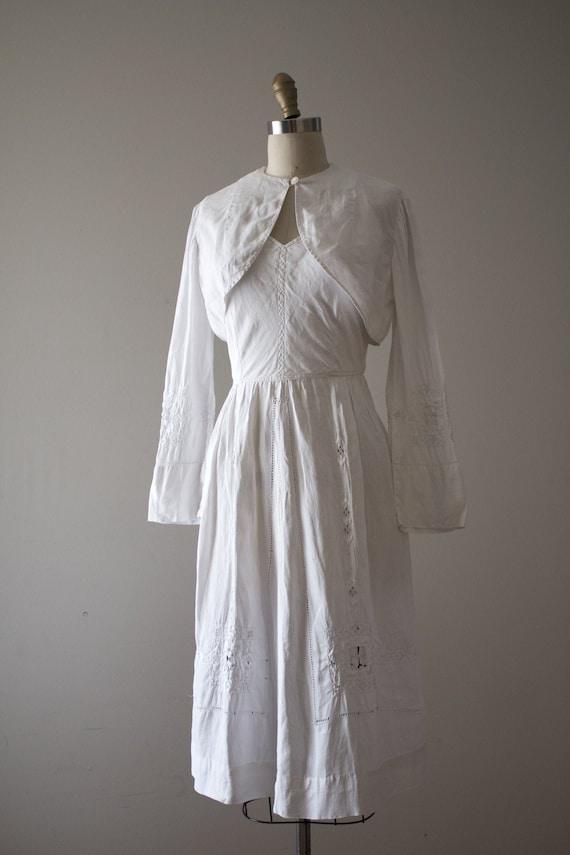 vintage 1930s Edwardian sun dress set