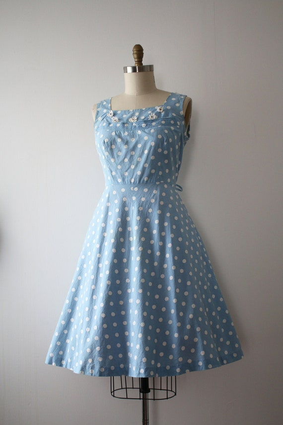 vintage 1950s polka dot dress