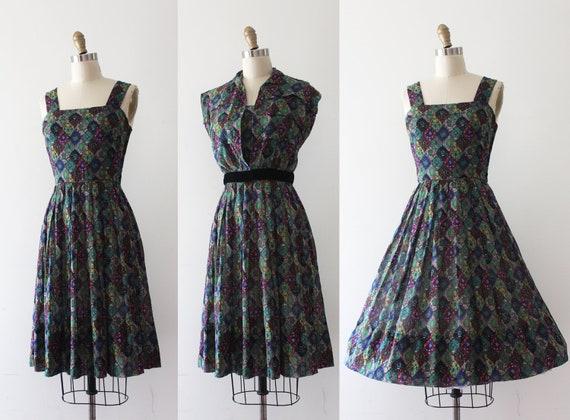 vintage 1950s Jean Lang sun dress set