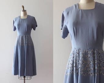 vintage 1940s dress // 40s rayon dress as is