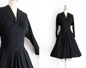R E S E R V E D vintage 1940s dress // 40s unique black evening dress