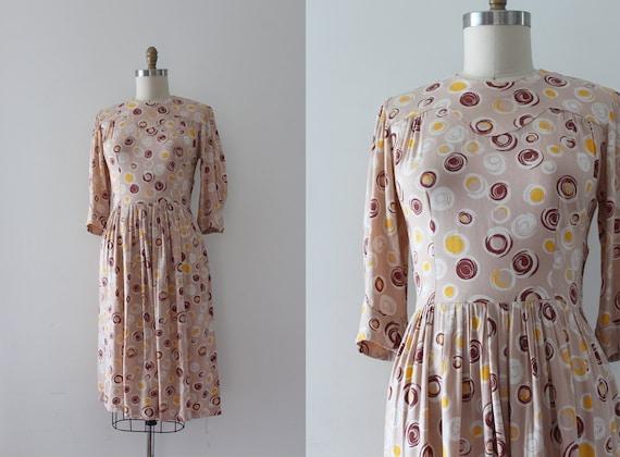 vintage 1940s dress // 40s cotton day dress