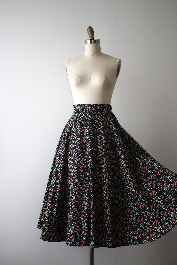 vintage 1950s novelty deer skirt - image 4