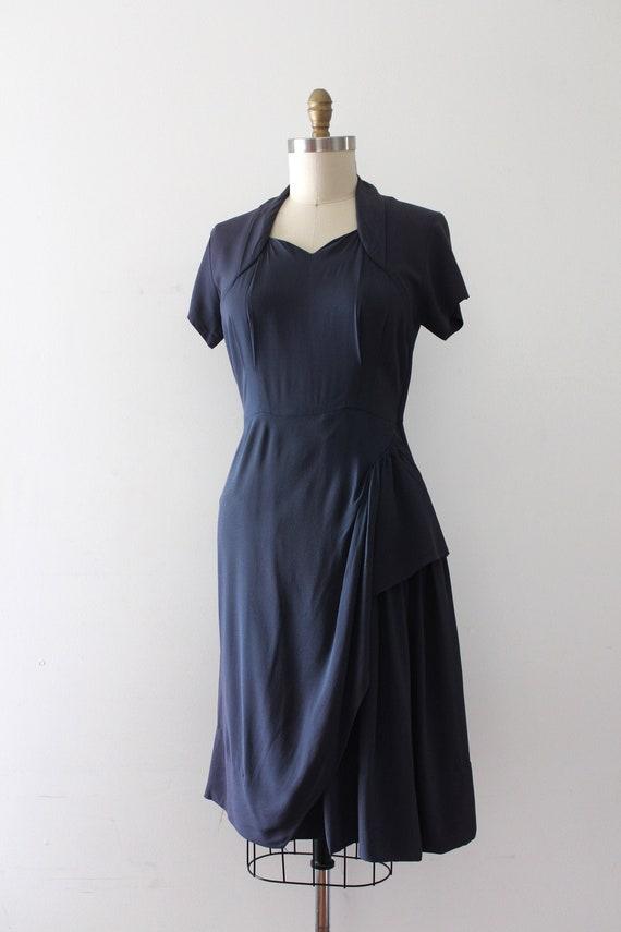 vintage 1940s rayon sarong style dress