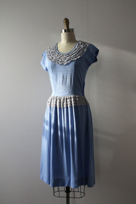 vintage 1940s blue dress